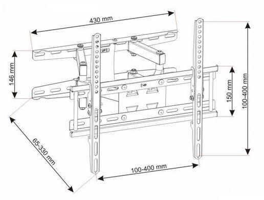 """Televizoriaus laikiklis ART Holdes For LCD TV / LED 23 - 60"""""""