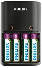 Elementu lādētājs Philips Charger 4 Slots AA/AAA + AA 2100mAh x4
