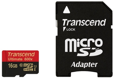 Transcend 16GB Micro SDHC Ultimate UHS-I 600x Class 10