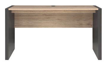 Black Red White Executive Desk 160x70cm Wolfram Grey/San Remo Oak