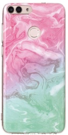 TakeMe Marble Stone Back Case For Huawei Mate 10 Lite Pink/Green