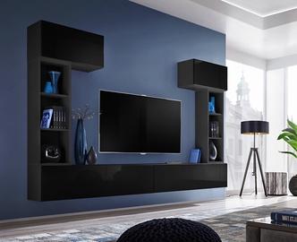 Dzīvojamās istabas mēbeļu komplekts ASM Blox II Black