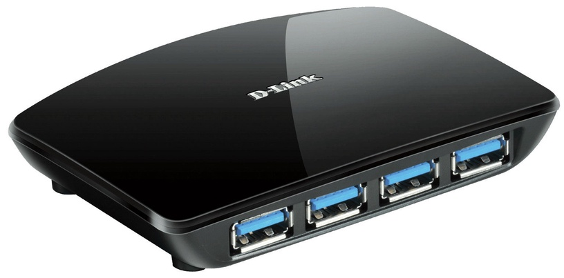 USB-разветвитель (USB-hub) D-Link DUB-1340/E 4-port USB 3.0 Hub Black