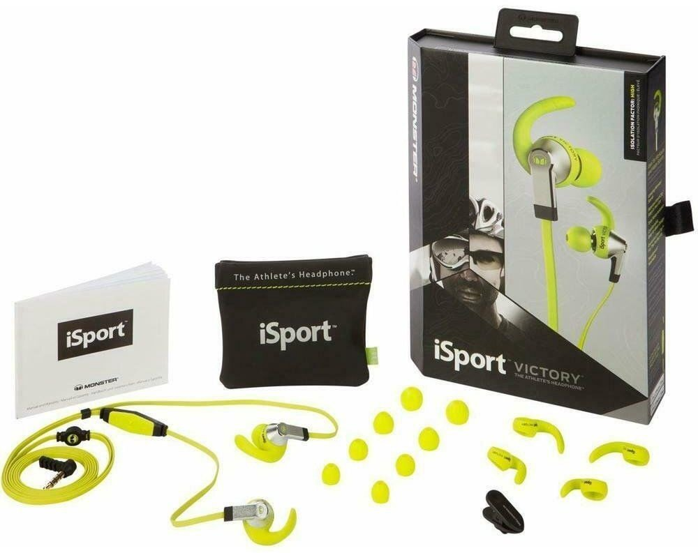 7d3a9b352c6 Monster iSport Victory Sport In-Ear Earphones Green - Krauta.ee