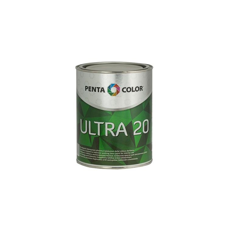 Krāsa dispersijas Pentacolor Ultra 20, 1 l, balta