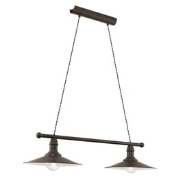 Pakabinamas šviestuvas Eglo Stockbury 49457, 2 x 60 W, E27