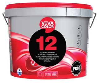 Seinavärv Vivacolor 12 valge A-alus 9l