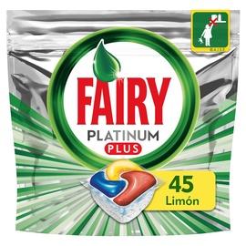 Trauku mazgājamās mašīnas kapsulas Fairy Plus Lemon, 45 gab.