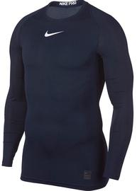 Nike Men's T-shirt Pro Top Compression LS 838077 451 Dark Blue 2XL