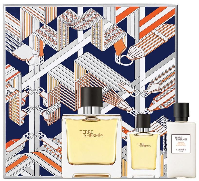 Hermes Terre D Hermes Parfum 75ml EDP + 40ml Aftershave Balm + 12.5ml EDP