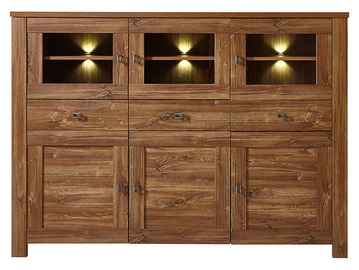 Black Red White Brussel Chest Of Drawers 40x178x130cm Oak