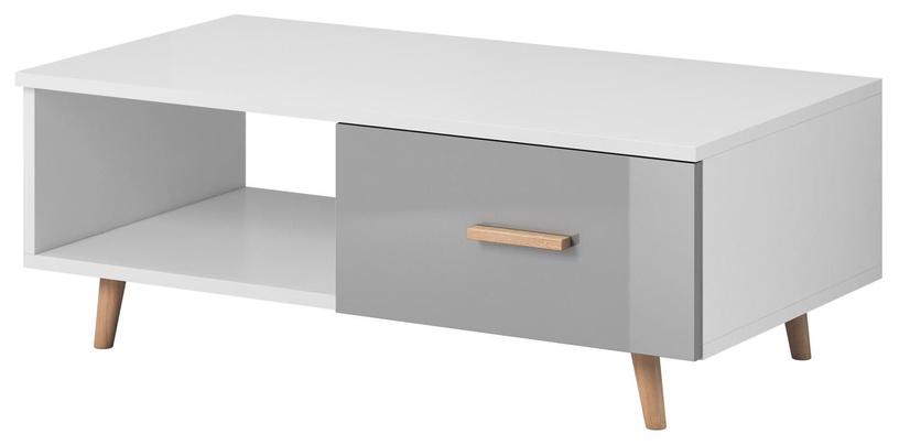 Kafijas galdiņš Vivaldi Meble Sweden, balta/pelēka, 1100x600x400 mm