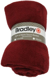 Bradley Plaid Fleece 180x200cm Bordeaux