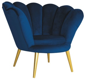 Signal Meble Magnolia Velvet Armchair Navy Blue/Gold