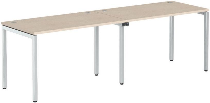 Skyland Xten-S XWST 2470 Writing Desk 240x70x75cm Beech Tiara/Aluminium