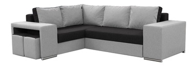 Stūra dīvāns Idzczak Meble Macho Black/Grey, labais, 275 x 215 x 85 cm