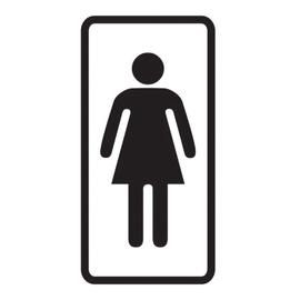 Ohutusmärk WC naistele kleebis 7,5x15cm