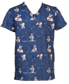 Bars Mens T-Shirt Blue 34 128cm
