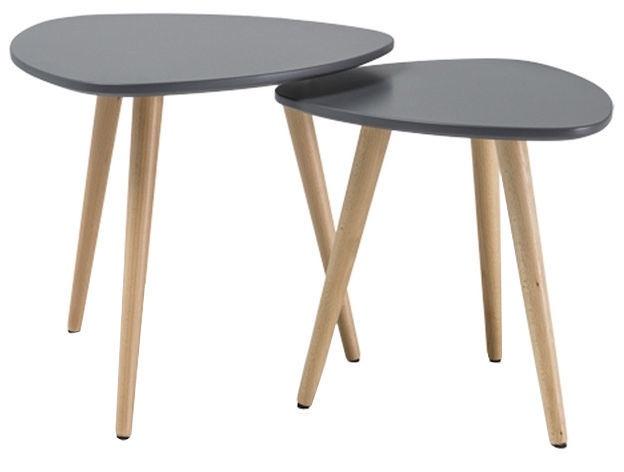 Kafijas galdiņš Signal Meble Nolan A Grey/Beech, 480x480x430 mm