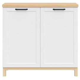 Black Red White Haga Cabinet 101x95cm White