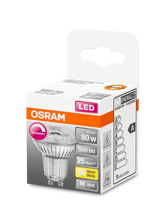LAMPA LED PAR16 36O 8.3W GU10 927 DIMER