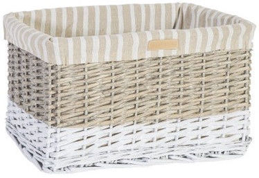 Home4you Basket Max 2 46x32xH26cm White/Gray