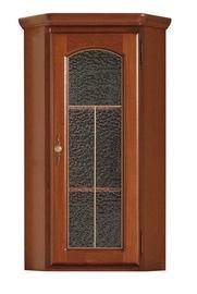 Black Red White Bawaria Glass Door Cabinet Chesnut/Walnut