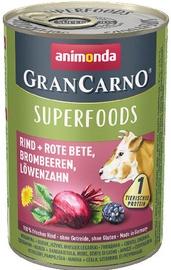 Animonda GranCarno Superfoods Dog Wet Food With Beef 400g