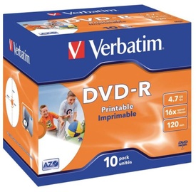Verbatim DVD-R 4.7GB 16x 10 pcs