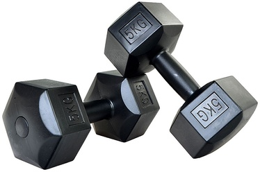 ProFit HEX Dumbbells 2x5kg Black