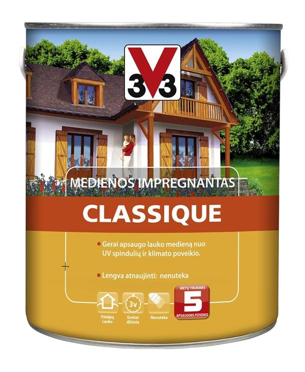 Medienos impregnantas V33 Classique, ąžuolo spalvos, 2.5 l