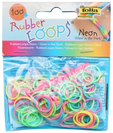 Folia Rubber Loops Neon Colors 100pcs