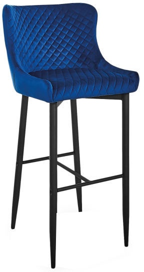 Барный стул Signal Meble Hoker Colin B H-1 Velvet Blue/Black, 1 шт.