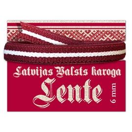 Lente Latvijas karoga 6mm 2m