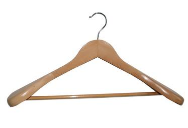 Medinė palto pakaba su skersiniu