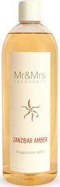 Gaisa atsvaidzinātājs Mr&Mrs Fragrance Blanc Liquid Diffuser Refill 1l Zanzibar Amber