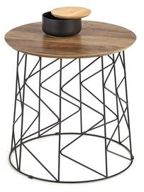 Kafijas galdiņš Halmar Musaka, melna/valriekstu, 500x500x500 mm