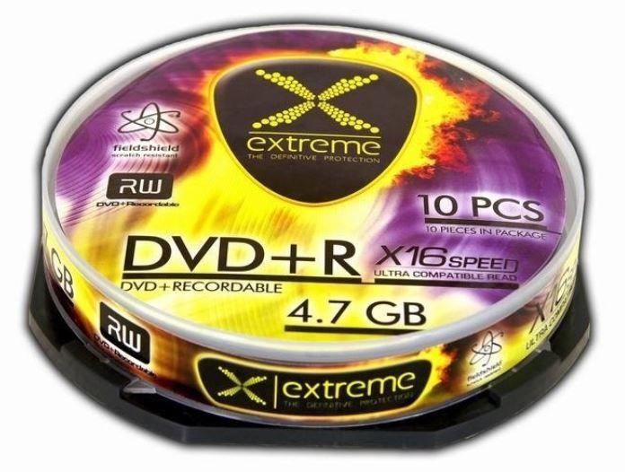 Extreme DVD+R RW 4.7GB 16x 10pcs