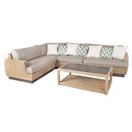 Moduļu dīvāns Home4you 4741243138018 Tanja, pelēka/smilškrāsas, 94 x 219 x 71 cm