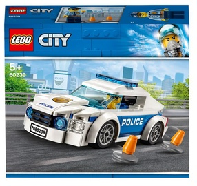 Конструктор LEGO City Автомобиль полицейского патруля 60239, 92 шт.