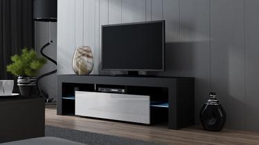 ТВ стол Pro Meble Milano 160 With Light Black/White, 1600x350x450 мм