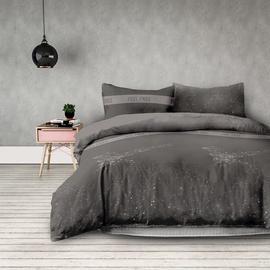 Gultas veļas komplekts AmeliaHome Basic, pelēka, 260x220 cm/50x75 cm