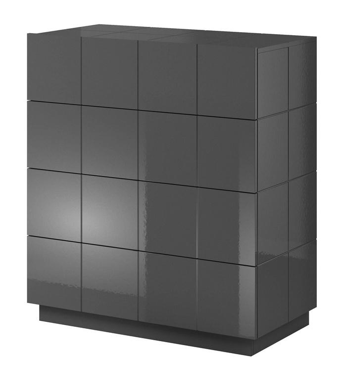 Комод Cama Meble Reja 4D, черный, 91x45x104 см