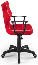 Детский стул Entelo Norm Size 6 VS09, черный/красный, 400 мм x 1045 мм