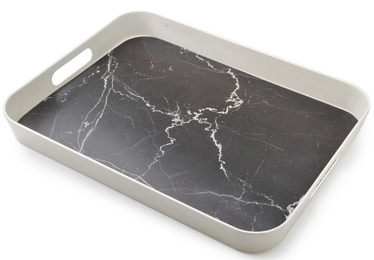 Mondex Bamboo Decorative Tray Black Marble