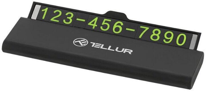 Tellur Temporary Car Parking Phone Number Card Black