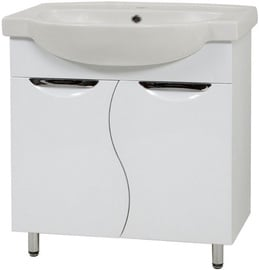 Sanservis Laura 65 XB 2D Cabinet with Basin White 65x85x47.5cm