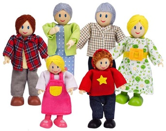 Žaislinė figūrėlė Hape Happy Family Caucasian E3500