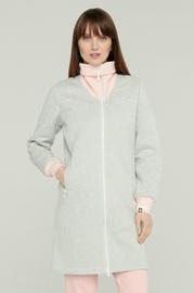 Audimas Fleece Long Zip-Through Jacket Grey S