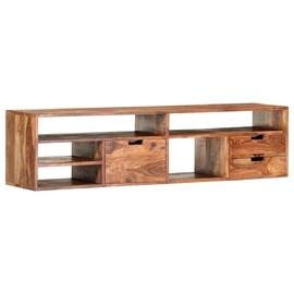 TV galds VLX Solid Sheesham Wood 286404, brūna, 300 mm x 1400 mm x 350 mm